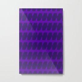 Purple Dog Tooth Pattern Metal Print