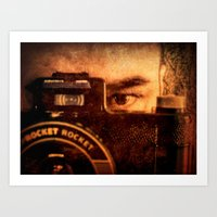 photographer Art Prints featuring Photographer by Jean-François Dupuis
