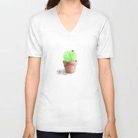 cactus V-neck T-shirts featuring Cactus by emegi