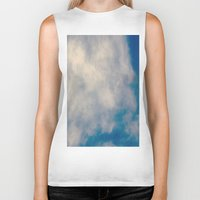 atlas Biker Tanks featuring Cloud Atlas by Paula Zapata