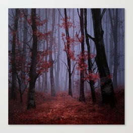 red forest 2 Canvas Print