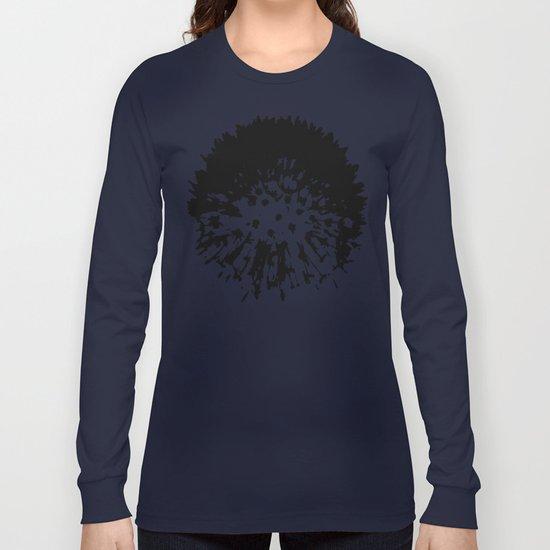 Dandelion [black on white] Long Sleeve T-shirt