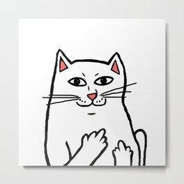 Naughty Cat Metal Print