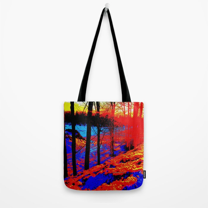 Snow Fire Tote Bag