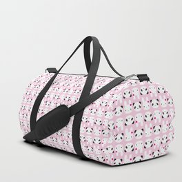 Super Cute Kawaii Bunny and Panda (Pink) Duffle Bag