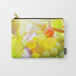 Fresh unripe grapes on vine close-up under sunlight in summer Carry-All Pouch