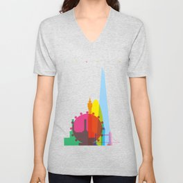 Shapes of London. Accurate to scale Unisex V-Neck