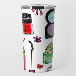 Cosmetic Doodles Travel Mug