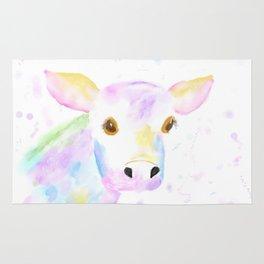 Whimsical Cow Rug