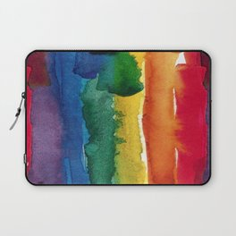 rainbow watercolor Laptop Sleeve