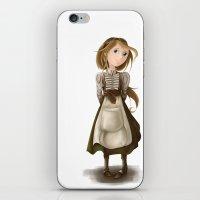 allyson johnson iPhone & iPod Skins featuring Flossie Ada Johnson by Nicola Davies