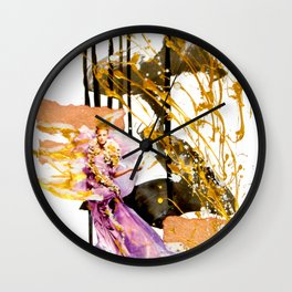 Goldengirl Wall Clock