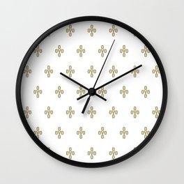 Pom Pom - White Wall Clock