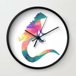 Blue lizard Wall Clock