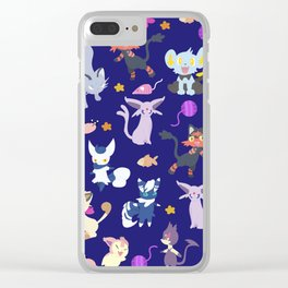 Cats - Blue Clear iPhone Case