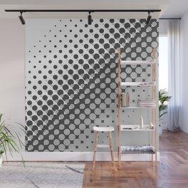 Dark grey and light grey halftone pattern Wall Mural