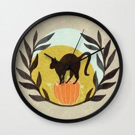 Halloween Kitty Wall Clock