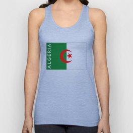 algeria country flag name text Unisex Tank Top