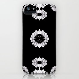 Gray Wildflowers frame iPhone Case