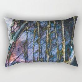 Snowy Forest Night Rectangular Pillow