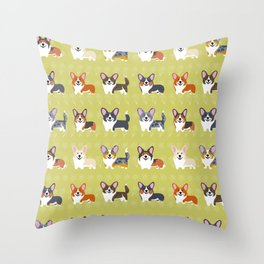 Pembrokes and Cardigans - CORGIS Throw Pillow