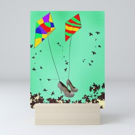 Flying Kites in May with May - shoes stories Mini Art Print