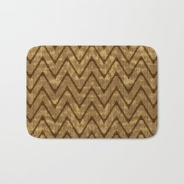 Faux Suede Chocolate Brown Chevron Pattern Bath Mat
