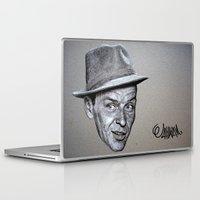 frank sinatra Laptop & iPad Skins featuring FRANK SINATRA by Jahwan by JAHWAN