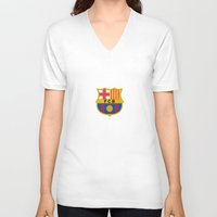 neymar V-neck T-shirts featuring Barcelona by Kesen