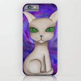 Alien Cat Galaxy iPhone Case