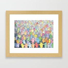 Time to dance! Hippo party illustration Framed Art Print