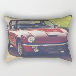 Triumph spitfire, classic english sports car, hasselblad photo Rectangular Pillow