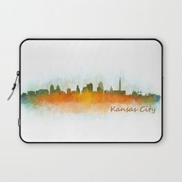 Kansas City Skyline Hq v3 Laptop Sleeve
