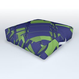 3D Abstract Futuristic Background III Outdoor Floor Cushion
