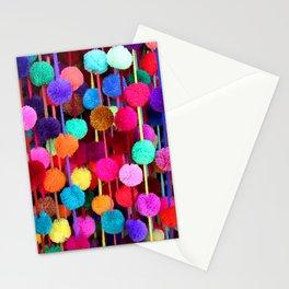 Rainbow Pom-poms (Horizontal) Stationery Cards