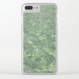 Clean Ocean Water Clear iPhone Case