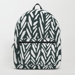 Dark green herringbone pattern Backpack