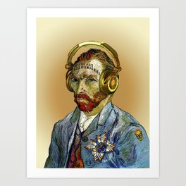 Van Gogh is cool Art Print