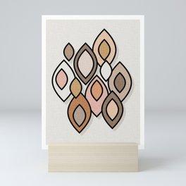 Mid Century Modern Scandinavian Leaves // Colors of the Desert Mini Art Print