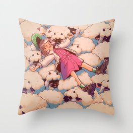 counting wooloo Throw Pillow