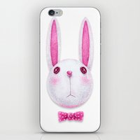 rabbit iPhone & iPod Skins featuring Rabbit by Lime