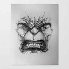 Hulk face Canvas Print