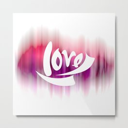 Love Digital Design - Purple Motion Blur Design Background Metal Print