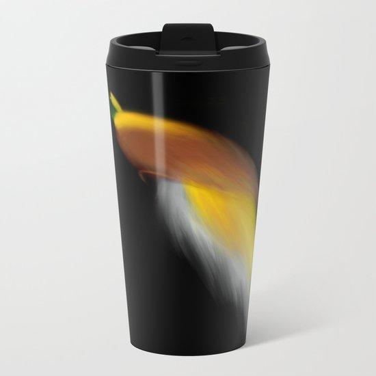 bird of paradise Metal Travel Mug