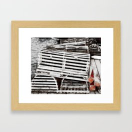 lobster trap photography Framed Art Print