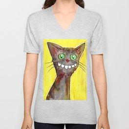 Derp Cat Unisex V-Neck