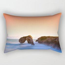 Sunrise in Castro de las Gaviotas. Coastal landscape in Asturias, Spain Rectangular Pillow