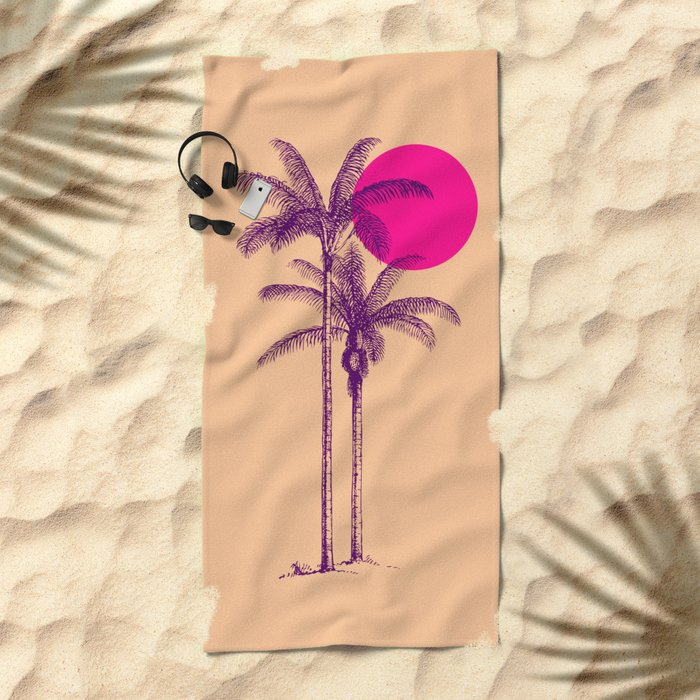 palm dream Beach Towel
