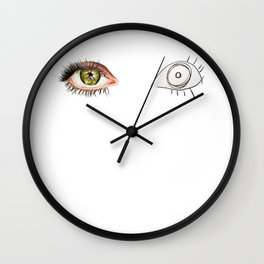 The Other Eye // drawing the reflection pet peeve Wall Clock