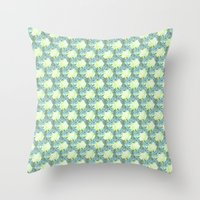 pinapple Throw Pillows featuring Pinapple x Ibisco by Silbox